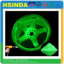 Hsinda Factory Дешевые цены Зеленый флуоресцентный свет в темном распылении Порошок краски
