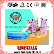 Umweltfreundliche Kunststoff Baby Slide mit Schaukel und Ball Pit