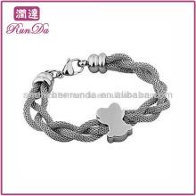 Venta al por mayor 316L pulsera de acero inoxidable pulsera de acoplamiento de la cadena de pulsera trenzada Vners fabricante