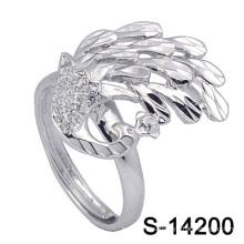 2016 новые мода Павлин форма серебряные ювелирные изделия кольца для элегантных леди (с-14200)