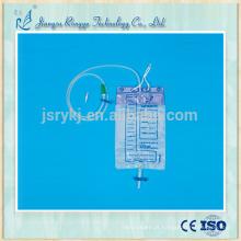 Saco de urina de drenagem médica anti-refluxo descartável