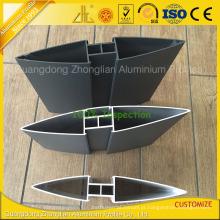 China Perfil de alumínio da lâmina da fábrica 6063 T5 do alumínio para o obturador