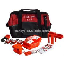 Aprobar CE Resistente impacto, corrosión, calor ABS plástico profesional con llave para dominar y alike bloqueo de seguridad candado