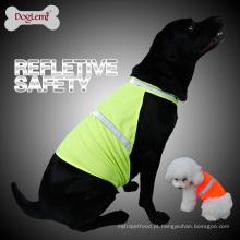 Cachorro Colete Refletivo Cão Colete de Caça Colete de Segurança Colete de Visibilidade Alta Cor de Néon