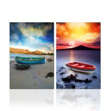 Arte de la pared del barco de vela en la lona Impresión de las imágenes de la puesta del sol