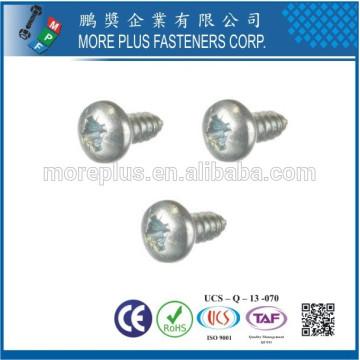 Hecho en Taiwán M1.7X7 Zinc coloreado Phillips impulsan la cabeza de la cacerola Tornillos que tachonan del tamaño pequeño