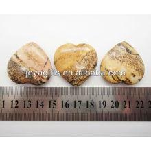 Natürliches Bild Jaspis Form Herz 35MM