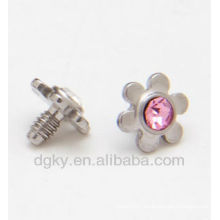 CZ Flower Dermal Anchor Piercing Jewelry