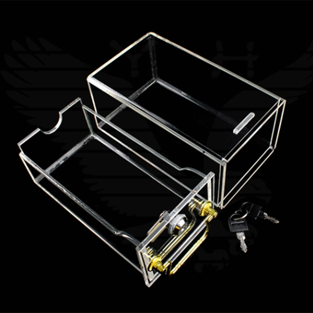 Casino Acrylic Clear Security Box For Playing Cards