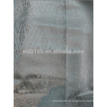 Fio novo do poliéster da chegada 100% tingiu a tela do Jacquard do projeto da flor do loszenge para a janela