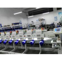 6 головок плоские машины вышивки в Китае с регулятором Компьютеризированная