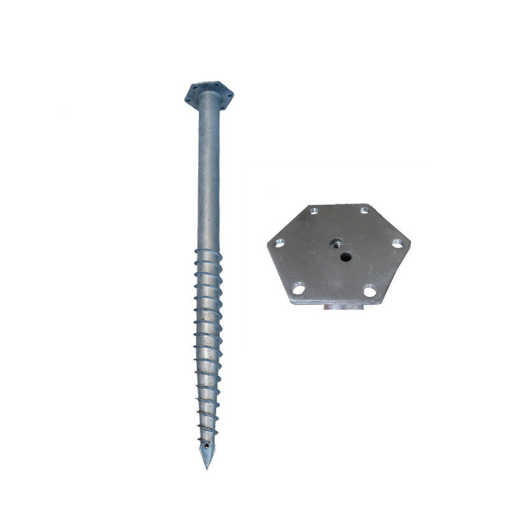 Ground Screw Piles dengan Hexagon Flange