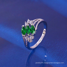 Xuping Luxury Rhodium Plated Zircon Ring