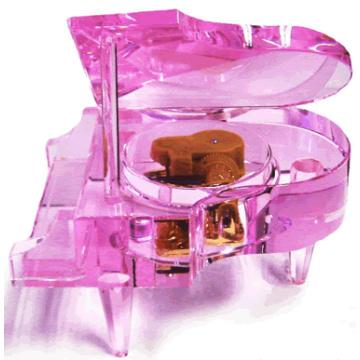 Crystal Handicrafts Music Box, Crystal Piano, Crystal, Piano