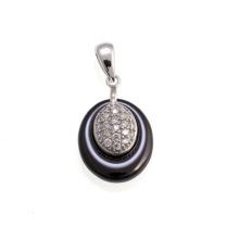 Jóias de prata pingente de cerâmica (P21000)