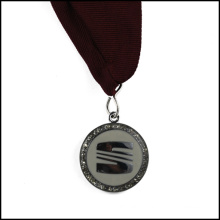 Silver Plated Metal Medal with Ribbon (GZHY-JZ-018)