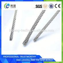 6 * 7 + Fc Pvc recubierto de acero inoxidable cuerda de alambre