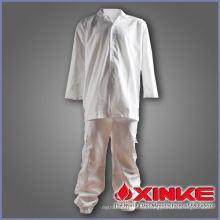 Escudo de chef de algodón poliéster suave y cómodo para restaurante
