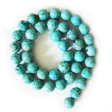 10MM Turquoise Round Beads