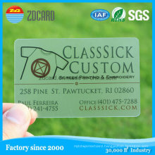 Gold Foil PVC Transparent Inkjet Business Card