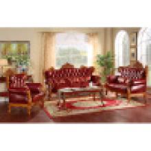 Sofá de couro para móveis de casa (502A)