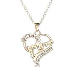 Collier en diamant Collier en argent sterling à double coeur