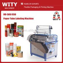 2015 Alta presicion modelo HD-500/650 máquina de rotulagem semi auto tubo de papel