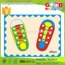 2015 New Arrival Wooden Shoes Toys Wooden Educational Puzzle for Wholesale