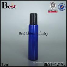 5ml 10ml 15ml cobalt blue glass roll on bottle, black silver gold cap lid
