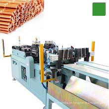 Corte de tubo de cobre capilar automático y máquina formadora de extremos