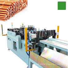 Automatic copper capillary tube cutting and end forming machine