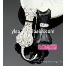 Süße Mode Tier Kristall Emaille Brosche