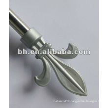plastic end mini curtain rod, cheap curtains rods, industrial curtain rods