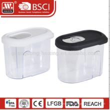 transparente Flasche 3 Stücke essen Grade Lagerung Kanister Speichersatz