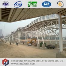 Structure en treillis de tuyaux en acier pour pont en acier