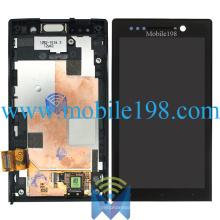 Pantalla LCD y digitalizador de pantalla táctil con carcasa frontal para Sony Xperia U St25I