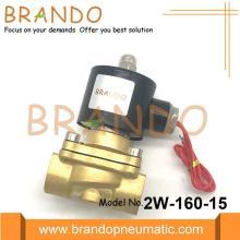 Válvula solenoide de bobina de cobre de cuerpo de latón