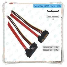 Sata data + power cable Serial ATA Data + Power Combo Cable Cordon de connexion