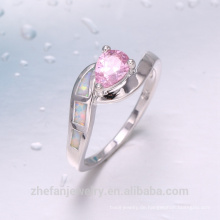 tanishq Silberschmuck Rhodium Stein Opal Belling Ring