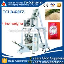 Máquina automática de embalagem de pesagem de cabeça multi para arroz