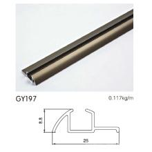 Eloxiertes Gold Aluminium Profil Einspur für Kleiderschrank