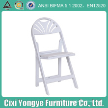 Fan Back Moon Resin Foldnig Chair for Party