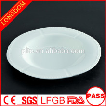 2015 New Design unique shape ceramic/porcelain soup plate