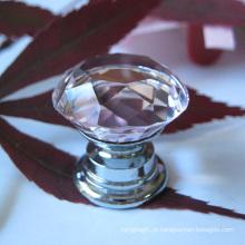 Gaveta de crianças-de-rosa cristal puxar 20mm