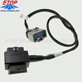 Kabel coverter J1962 OBD2 diagnostik truk kustom dengan konektor APEX 2.8MM