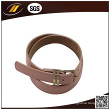 Casual Narrow Girl Rosa Cinturón de cuero