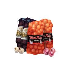 Custom Size and Logo Plastic 25kg 30kg 50kg PP Mesh Fruit Packaging Bags packaging vegetable fruit pp tubular leno mesh bag