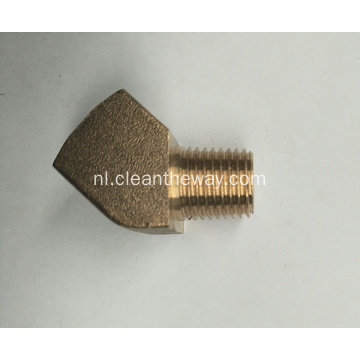 "Hogedrukreiniger 45 ° Messing 1/4 ""FNPT * 1/4"" MNPT-connector"