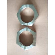 Unión sanitaria de acero inoxidable con tuerca hexagonal Rjt estándar