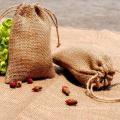 Bolsas de yute con cordón ecológico impresas personalizadas